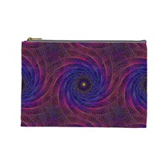 Pattern Seamless Repeat Spiral Cosmetic Bag (large)