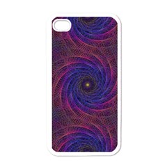 Pattern Seamless Repeat Spiral Apple Iphone 4 Case (white) by Nexatart