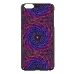 Pattern Seamless Repeat Spiral Apple Iphone 6 Plus/6s Plus Black Enamel Case