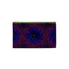 Pattern Seamless Repeat Spiral Cosmetic Bag (xs) by Nexatart