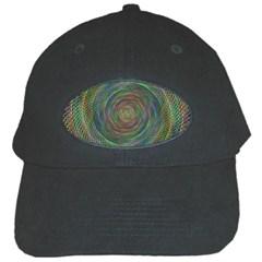 Spiral Spin Background Artwork Black Cap by Nexatart