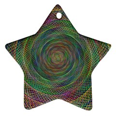 Spiral Spin Background Artwork Ornament (star) by Nexatart