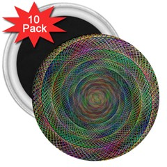 Spiral Spin Background Artwork 3  Magnets (10 Pack)  by Nexatart