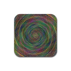 Spiral Spin Background Artwork Rubber Square Coaster (4 Pack)