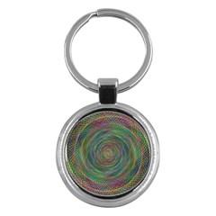 Spiral Spin Background Artwork Key Chains (round)  by Nexatart