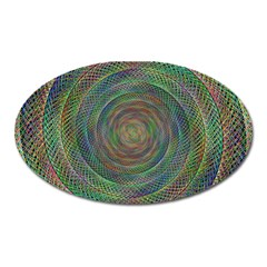 Spiral Spin Background Artwork Oval Magnet by Nexatart
