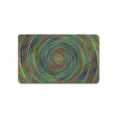 Spiral Spin Background Artwork Magnet (name Card) by Nexatart