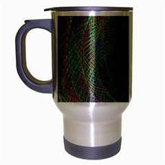 Spiral Spin Background Artwork Travel Mug (silver Gray) by Nexatart