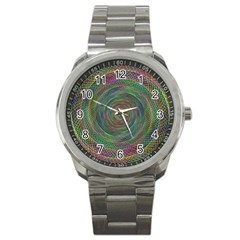 Spiral Spin Background Artwork Sport Metal Watch by Nexatart