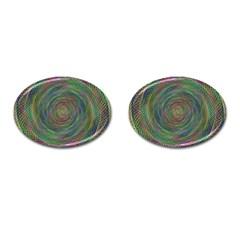 Spiral Spin Background Artwork Cufflinks (oval)