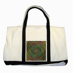 Spiral Spin Background Artwork Two Tone Tote Bag