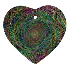 Spiral Spin Background Artwork Heart Ornament (two Sides) by Nexatart