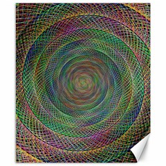 Spiral Spin Background Artwork Canvas 8  X 10  by Nexatart