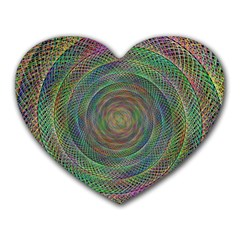 Spiral Spin Background Artwork Heart Mousepads by Nexatart