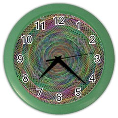 Spiral Spin Background Artwork Color Wall Clocks by Nexatart