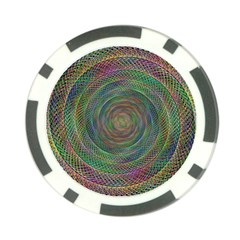Spiral Spin Background Artwork Poker Chip Card Guard (10 Pack) by Nexatart
