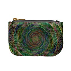 Spiral Spin Background Artwork Mini Coin Purses