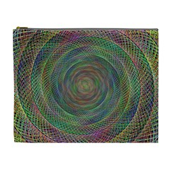 Spiral Spin Background Artwork Cosmetic Bag (xl)