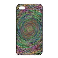 Spiral Spin Background Artwork Apple Iphone 4/4s Seamless Case (black) by Nexatart