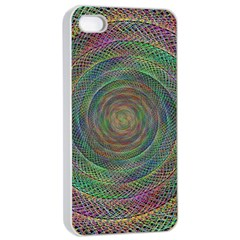 Spiral Spin Background Artwork Apple Iphone 4/4s Seamless Case (white)