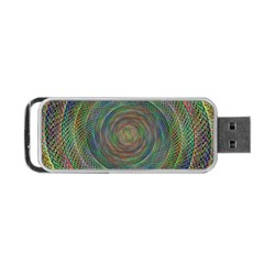 Spiral Spin Background Artwork Portable Usb Flash (one Side) by Nexatart