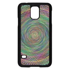 Spiral Spin Background Artwork Samsung Galaxy S5 Case (black)