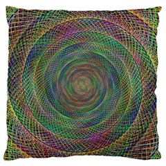 Spiral Spin Background Artwork Large Flano Cushion Case (one Side) by Nexatart