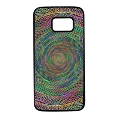 Spiral Spin Background Artwork Samsung Galaxy S7 Black Seamless Case
