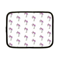 Sweet Flamingo Pattern Netbook Case (small)  by MoreColorsinLife