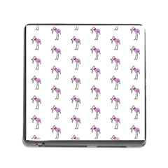 Sweet Flamingo Pattern Memory Card Reader (square) by MoreColorsinLife