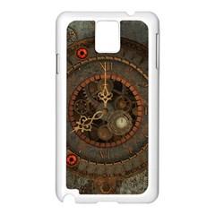 Steampunk, Awesome Clocks Samsung Galaxy Note 3 N9005 Case (white)