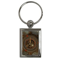 Steampunk, Awesome Clocks Key Chains (rectangle)  by FantasyWorld7