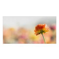 Single Flower Photo Satin Shawl by amphoto