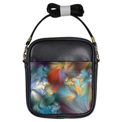 Evidence Of Angels Girls Sling Bags by WolfepawFractals