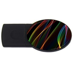 Rainbow Ribbons Usb Flash Drive Oval (2 Gb)
