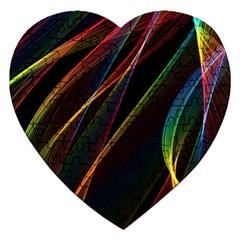 Rainbow Ribbons Jigsaw Puzzle (heart)