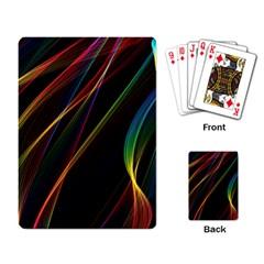 Rainbow Ribbons Playing Card