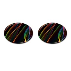 Rainbow Ribbons Cufflinks (oval)