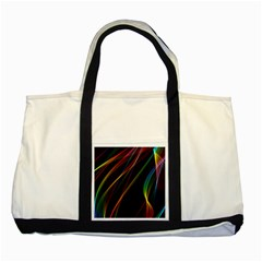 Rainbow Ribbons Two Tone Tote Bag