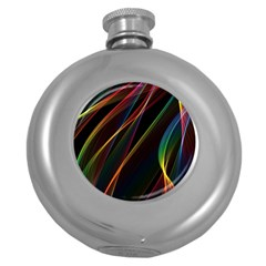 Rainbow Ribbons Round Hip Flask (5 Oz)
