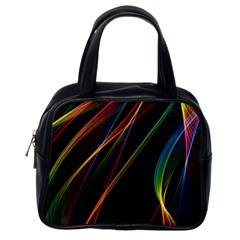 Rainbow Ribbons Classic Handbags (one Side)