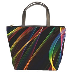 Rainbow Ribbons Bucket Bags