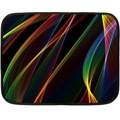 Rainbow Ribbons Double Sided Fleece Blanket (mini)  by Nexatart