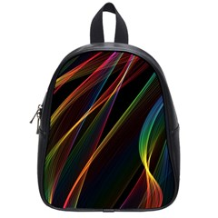 Rainbow Ribbons School Bag (small) by Nexatart