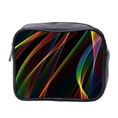 Rainbow Ribbons Mini Toiletries Bag 2 Side