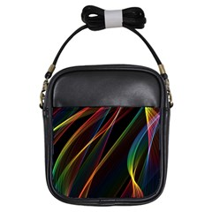 Rainbow Ribbons Girls Sling Bags