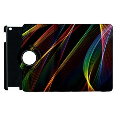 Rainbow Ribbons Apple Ipad 2 Flip 360 Case by Nexatart