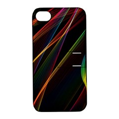 Rainbow Ribbons Apple Iphone 4/4s Hardshell Case With Stand