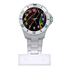 Rainbow Ribbons Plastic Nurses Watch