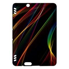 Rainbow Ribbons Kindle Fire Hdx Hardshell Case by Nexatart